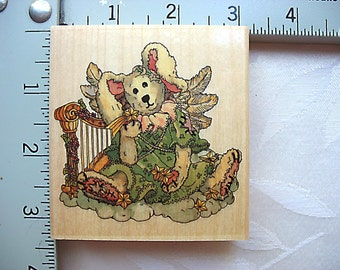Uptown Stamps Celeste The Angel Rabbit Rubber Stamp Boyds Collection