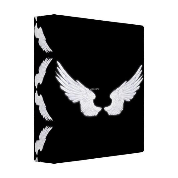 Angel Wings 3 Ring Binder White Or Black Wings 4 Sizes