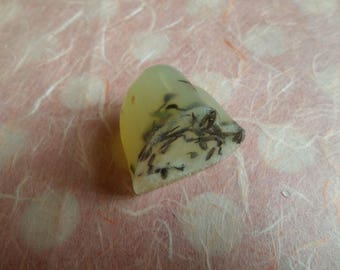 Gift wrapped natural lavender heart soap, 3.5cm x 3.5cm