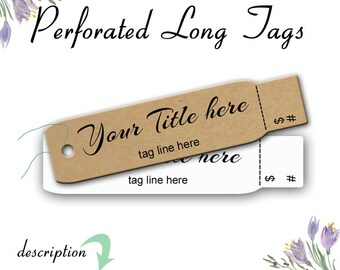 Custom Price Tags, Perforated Product Tags, Clothing Price Tags, Product Tags, Perforated Price Tags, Labels, Blank Tags