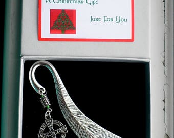 Celtic Gift, Boxed Bookmark from Emerald Isle, Boxed for Christmas Gift, Celtic Bookmark