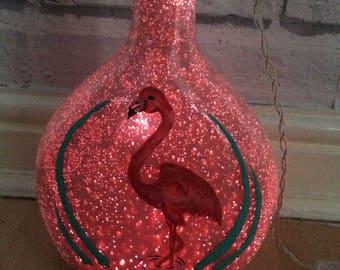 Flamingo bottle light