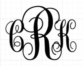 Interlocking Vine Monogram decal