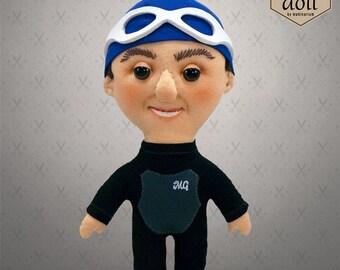 Selfie doll - Mark, custom doll, character doll, rag doll, art doll, personalized doll
