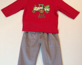 Boy's Christmas Tee-Shirt and Pants