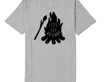 Let's Get Toasted Camping Outdoor Bonfire Funny Unisex T Shirt Many Sizes Colors Custom Gift Jenuine Crafts