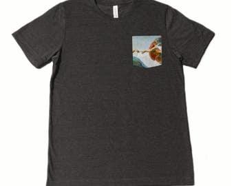 The Creation of Adam Pocket Shirt (Michelangelo)