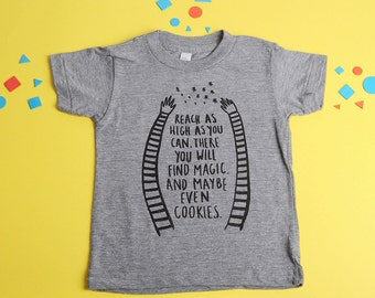 Reach High, Toddler T-Shirt, Trendy Kids Clothes, Child T-Shirt, Screen Printed, Graphic Tee