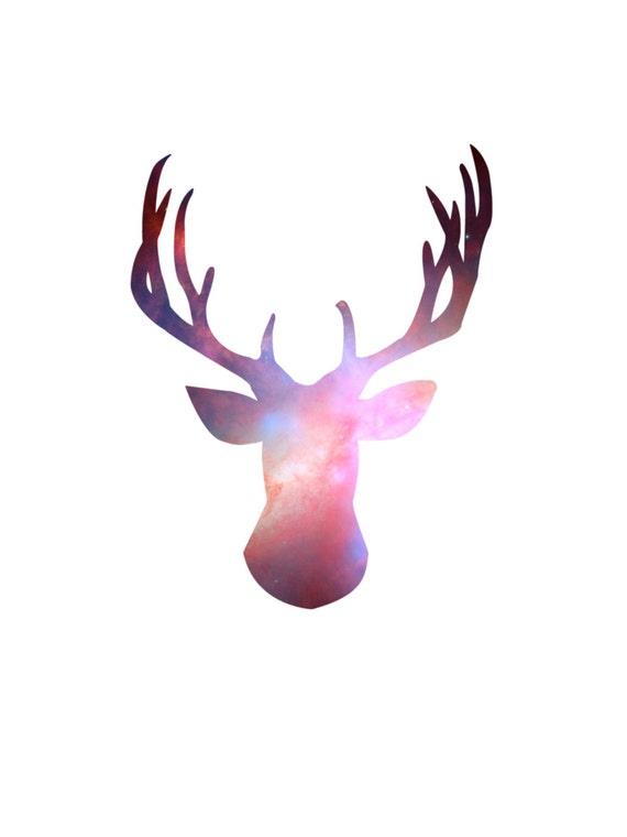 Deer Head Print Stag Print Deer Head Wall Art Stag Wall