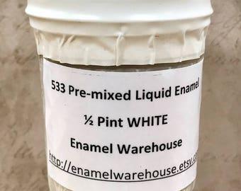 533 WHITE - My Favorite Sgraffito Liquid White - Pre-mixed One-Half Pint