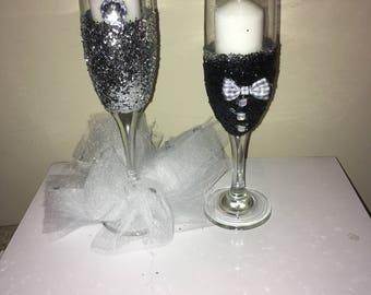 Bridal Champagne Glasses