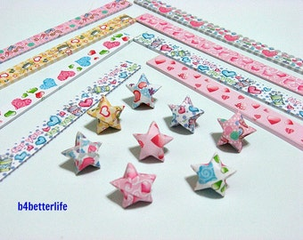 250 strips of DIY Origami Lucky Stars Paper Folding Kit. 26cm x 1.2cm. #C032. (XT Paper Series).