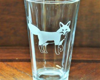 Fox - Pub Glass - 16oz