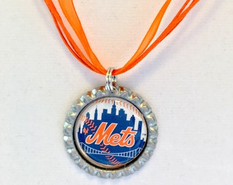 New York METS Baseball Handcrafted Necklace
