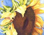 """Notecard """"Sunflower"""" by Sandi McGuire"""