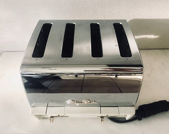 Retro 4 Slice Toaster Oven in Stainless Steel by Mary Proctor