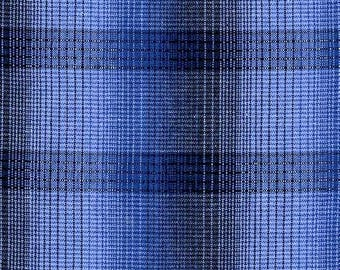 Intermix Woven Plaid by Blank Textiles Blue