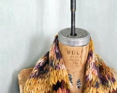 Wide Bulky Chunky Long Hipster Scarf Thick Soft Wool Warm Handknit from Handspun Yarn Art Scarf Wild Thick Hipster Boho
