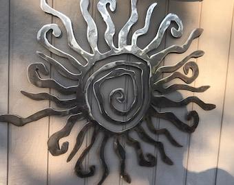 Rustic Wall Sun Decor, Indoor Outdoor Sun, Metal Sun Art, Custom Sun