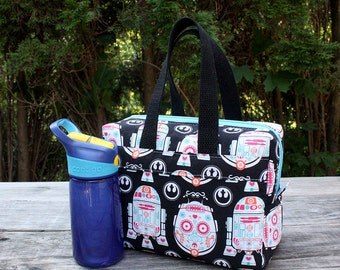 Insulated Lunch Bag Lunch Box Cooler Rectangle Star Wars Droid Sugar Skulls Made To Order