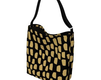 Gold Tote Handbag - Cross Body Bag - Everyday Womens Bag - Messenger Bag Women - Bookbag - Waist Bag - Bum Bag - Tote Bag for Women