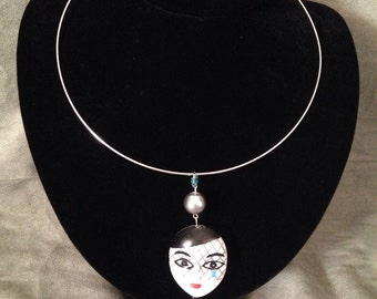 Upcycled Silver Maquerade Necklace and Ring