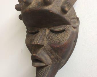 Vintage African Art Mask Bassa