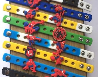 Spider Superhero Charm Bracelets PARTY FAVORS