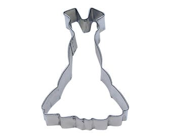 "Gown Cookie Cutter Dress Cookie Cutter Princess Cookie Cutter Girl Cookie Cutter 4"" RM-928"