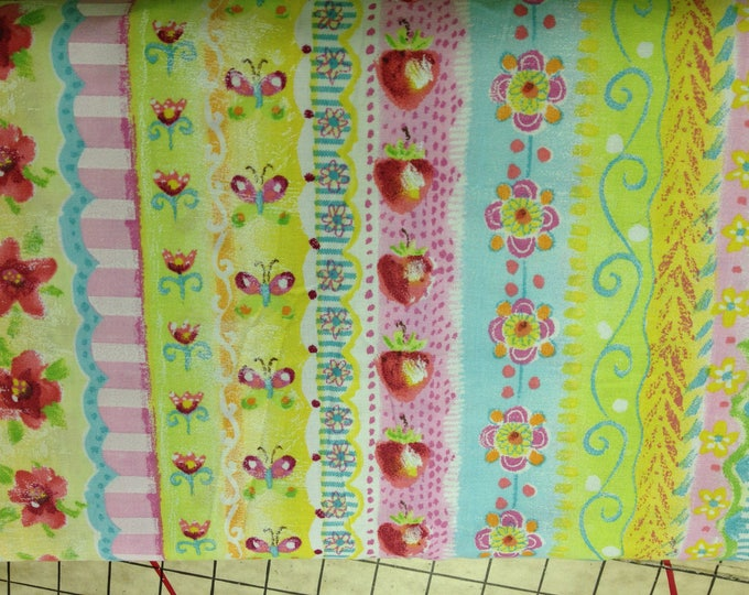 Summer cafe  100% cotton fabric, sold by the yard  #327
