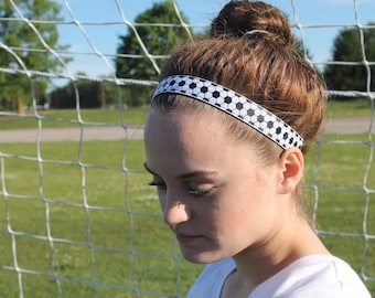Soccer Headband - Choice of Sizes and Colors - Kids Headbands for Girls Soccer Gifts - Sports Headbands Women - Non Slip Headband Adult