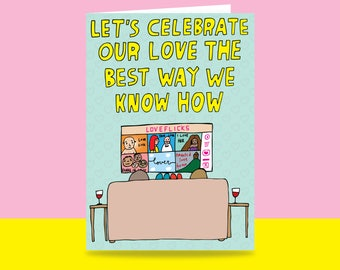 Greeting Card - Let's Celebrate Our Love The Best Way We Know How | Valentine's Day Card | Romantic Card