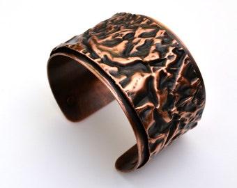 Copper Cuff Sherman Fold Bracelet