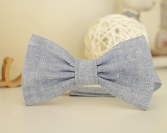 Boys bow tie Baby toddler boy bow tie Linen bow tie ring bearer bow tie Bowtie Boys accessories