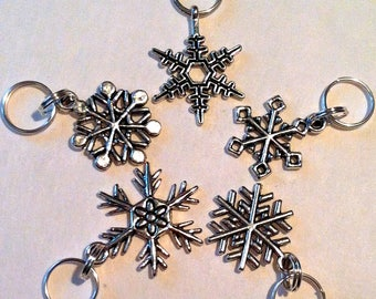 Snowflake Charms Zipper Pulls Set of 5 Party Favors Frozen Charm Bracelet FAST shipping from Los Angeles