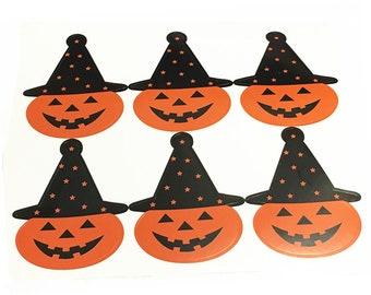60 Decorative Adhesive Halloween stickers 70x50mm-511D