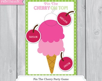 Ice Cream Shop Party Printable Party Game - 3 Sizes - Ice Cream Party Game - Sweet Shoppe Birthday - Ice Cream Birthday Party