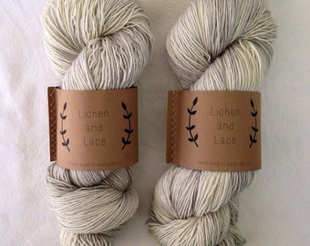 Silver Fox ~ Lichen and Lace Hand Dyed Yarn