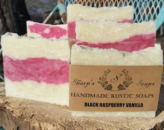 Black Raspberry Vanilla Handmade Soap Bar