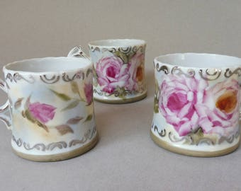 Pink Rose Coffee/Latte Cups