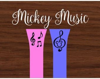 Mickey Mouse Music Notes Decal - Clef - Music Note - Walt Disney World -  Magic Band Decals - fits 1.0 and 2.0