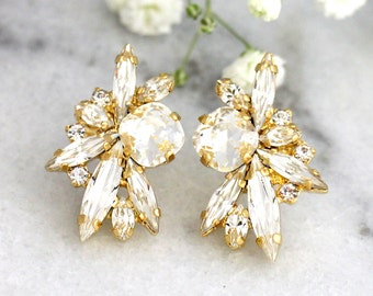 Bridal Earrings, Bridal Crystal Earrings, Bridal cluster Earrings, Swarovski Bridal Earrings,Bridesmaids Earrings,Bridal Clear Crystal Studs
