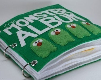 The Monster Album | Quiet Book Pattern, Busy Book Pattern, Travels Toys