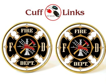Super Fireman cufflinks | Etsy LF93