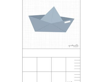 Bar for nursery - paper boat