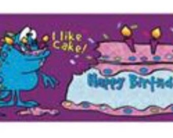 I Like Cake Birthday Personalized Candy Bar Wrappers 10pk