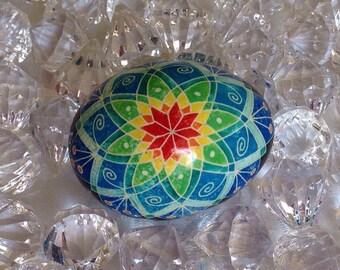 Ukrainian egg ~ Pysanky  ~ multi coloured traditional egg ~ handmade