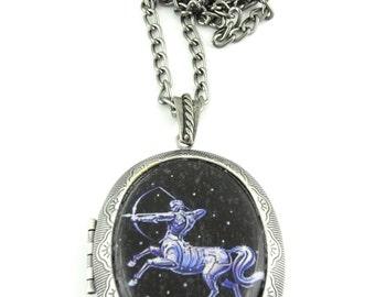 Sagittarius Locket & Gift bag, Astrology Locket, Necklace, Sagittarius Necklace, Sagittarius Jewellery, Locket, Jewelry, Birthday Gift