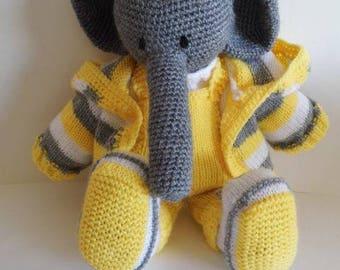 Mr Elephant, crochet elephant, amigurumi elephant, handmade elephant, stuffed elephant