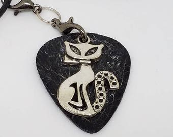 Guitar Pick Necklace from Vinyl Record - Cat